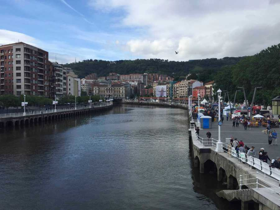 A river that flows through Bilbao, Spain (where we went on an NYU-sponsored weekend long trip).