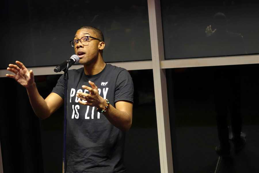 With his poem discussing police brutality, Michael Frazier is one of the chosen few to represent NYU this year at the College Union Poetry Slam Invitational.