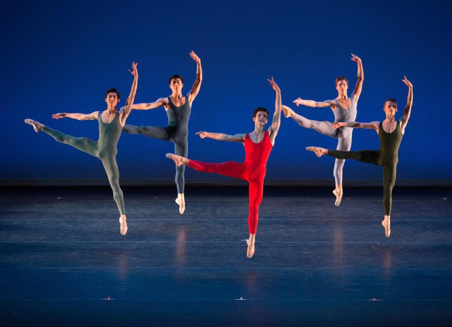 """On Friday and Saturday night, an all-male cast of Royal Ballet School graduates perform """"Concerto Grosso"""" at NYU's Skirball Center for the Performing Arts."""
