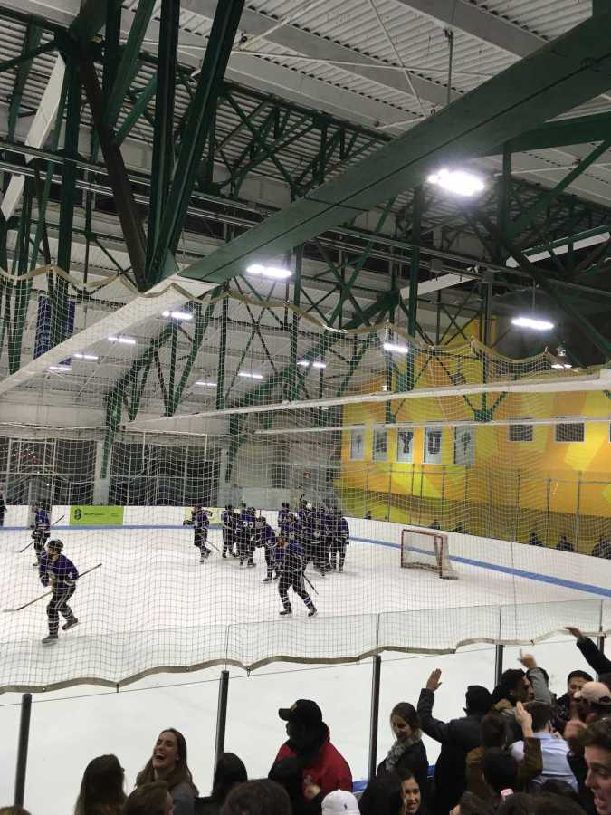 The NYU hockey team won this weekend's SECHL playoff tournament in Montclair, New Jersey. Over spring break, the Violets will compete in the ACHA Division II National Tournament to be held in Columbus, Ohio.