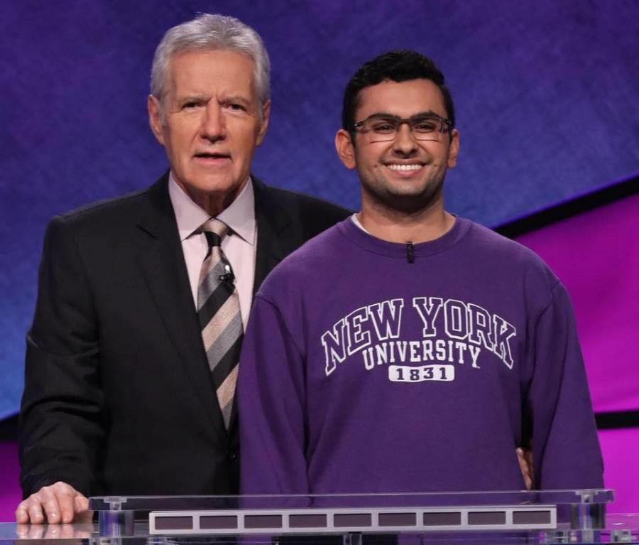 """Stern freshman, Mohan Maholtra, is competing on the """"Jeopardy! College Championship."""""""