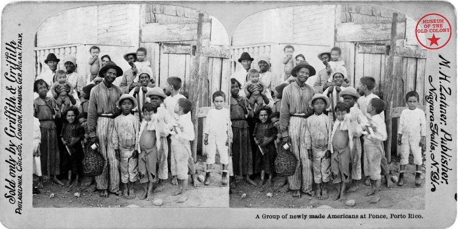 A group of newly made Americans at Ponce, Puerto Rico.