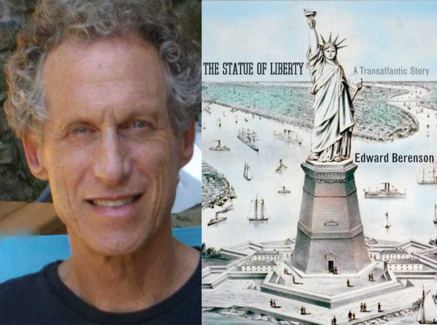 """History Professor, Edward Berenson, and his book """"The Statue of Liberty. A Transatlantic Story."""" Berenson is one of many professors who set their own work as required reading for their course."""