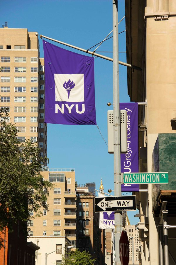 NYU+campus+and+flags.