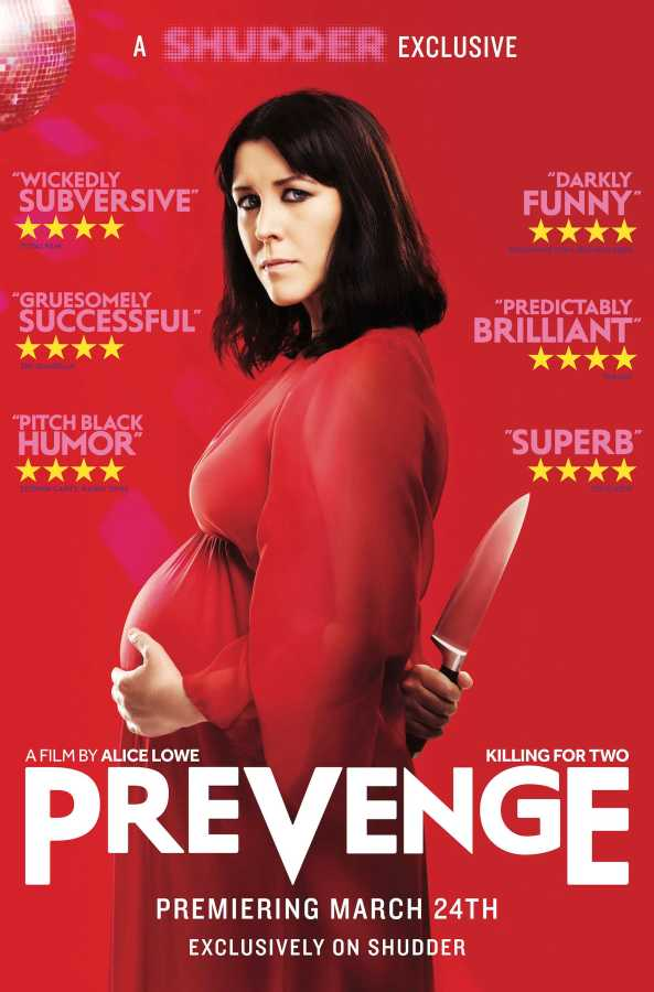 """Alice Lowe's film """"Prevenge"""" opens at the IFC Film Center at 323 Sixth Ave. on Friday, March 24 and will be available to stream nationwide the same day via Shudder. The movie chronicles the life of a pregnant widow who finds herself being controlled by her unborn baby."""