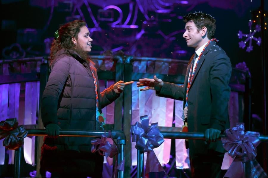 "Barrett Doss and Andy Karl star in Matthew Warchus' stage adaptation of the classic 1993 film ""Groundhog Day."""