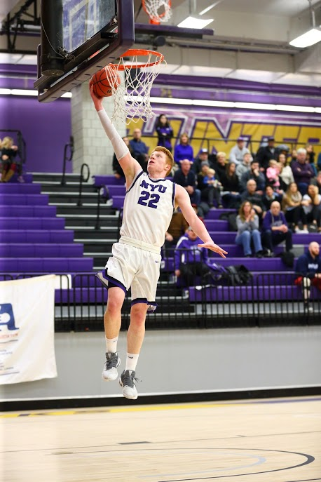 Joe Timmes, School of Professional Studies Sports Management senior and captain of the NYU men's basketball team, will be joining the Brooklyn Nets as their Basketball Operations Seasonal Assistant after graduation.