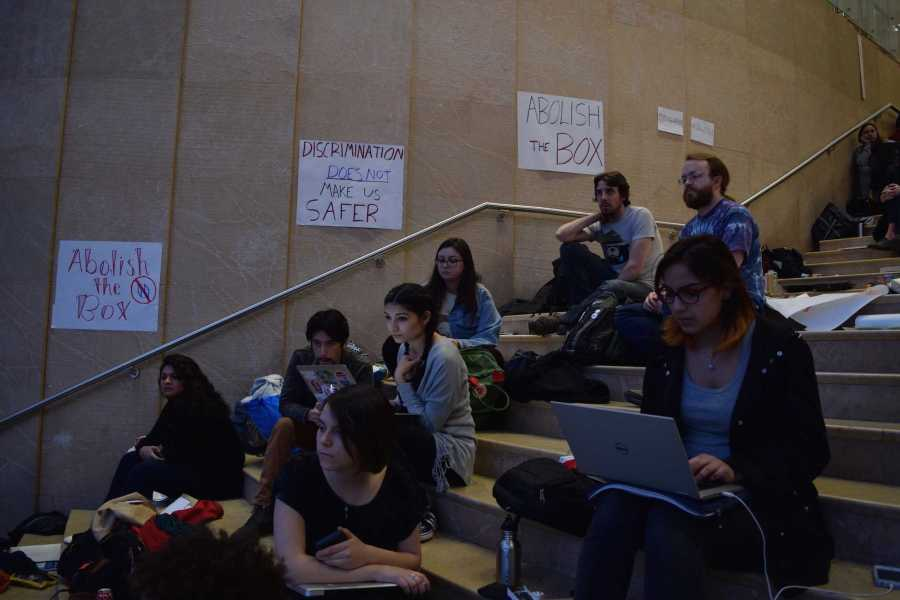 Students suddenly flooded Kimmel on Friday for a general protest. Anybody was allowed to protest anything they wanted, as long as they showed solidarity.