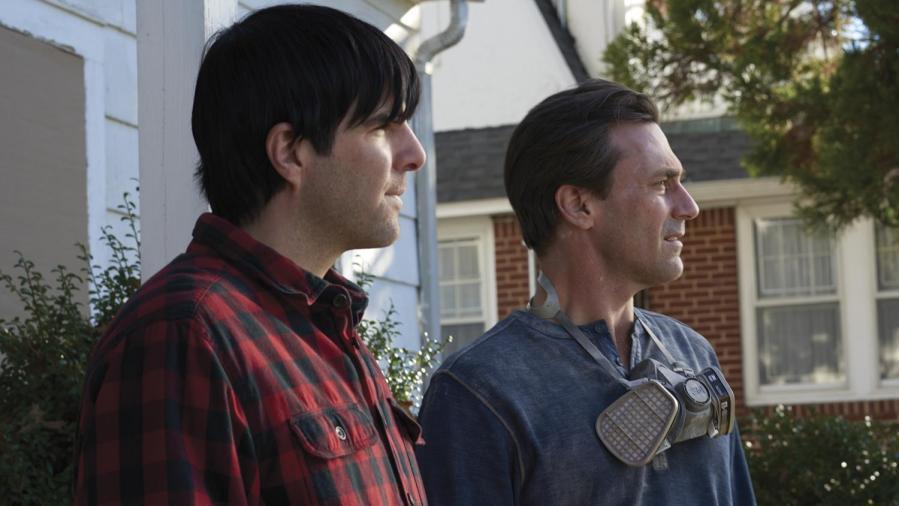 """Actor and producer Zachary Quinto stars as Josh Norman and actor Jon Hamm stars as Craig in writer and director Brian Shoaf's film """"Aardvark."""""""