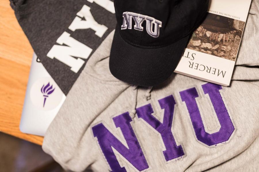 Students show their school spirit with NYU merchandise