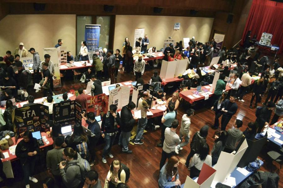 Club Fest showcases all of the different extracurricular clubs at NYU, giving students the opportunity to sign up for a number of activities.