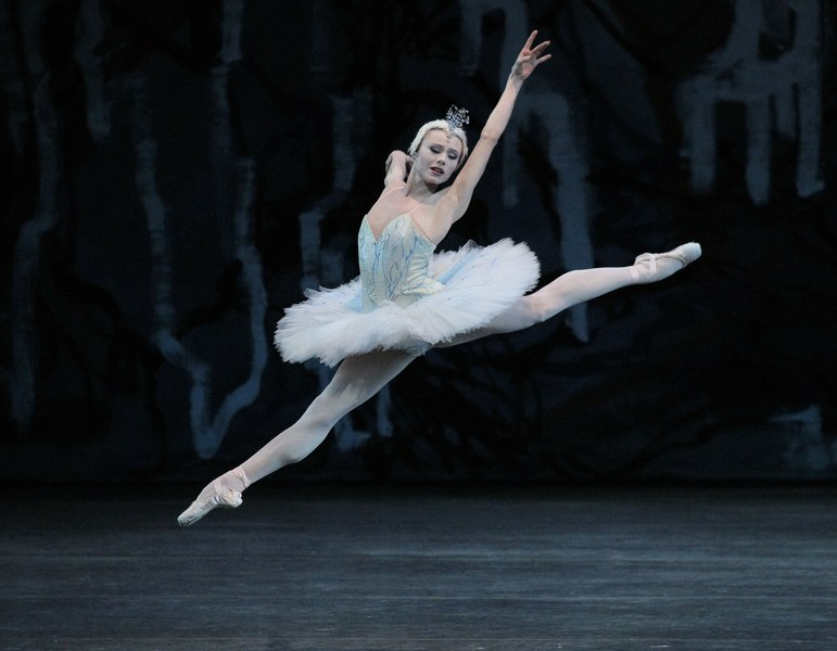 """""""Swan Lake"""" ballerina from the New York City Ballet dances on the opening night at the David H. Koch Theatre."""
