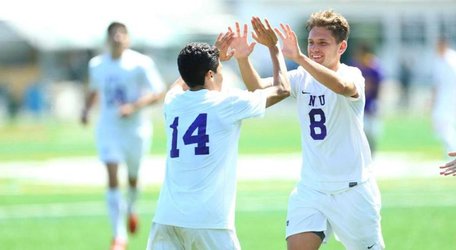 Robert+Shellow+and+Maxi+Rodriguez+celebrate+their+second+goal.%0A
