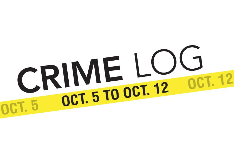 Crime Log: Oct. 5 to Oct. 12
