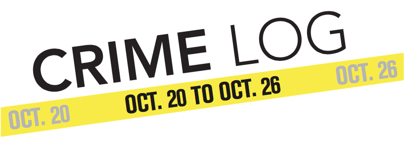 Crime Log: Oct. 20 to Oct. 26