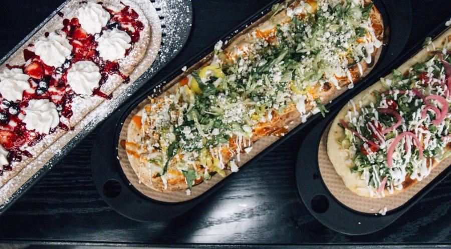 &pizza just opened on Broadway and Astor Place and offers a number of personal pizzas, as well as a create your own option at an affordable price. (Photo by Polina Buchak)