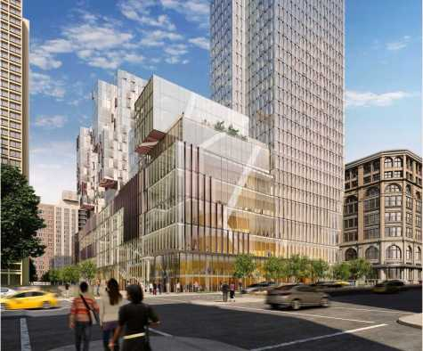 A mockup of what the 181 Mercer Street building would look like from Houston Street.