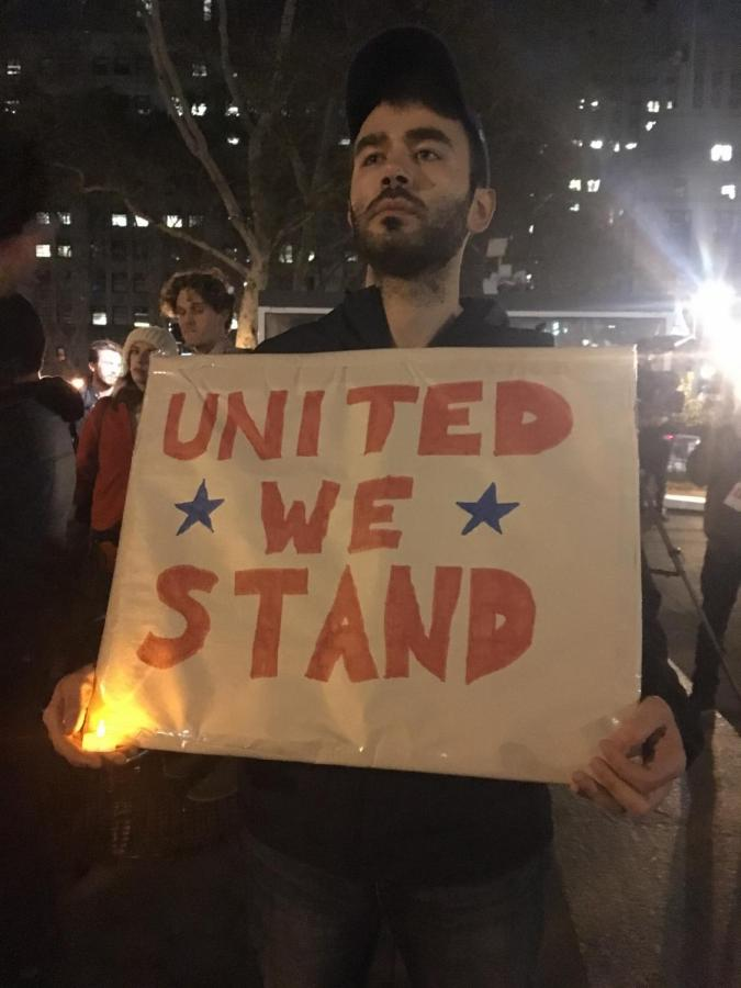 Approximately 200 people attended a vigil on Nov. 1 for the victims of the TriBeCa attack.