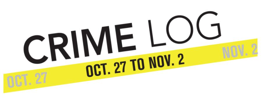 Crime Log: Oct. 27 to Nov. 2