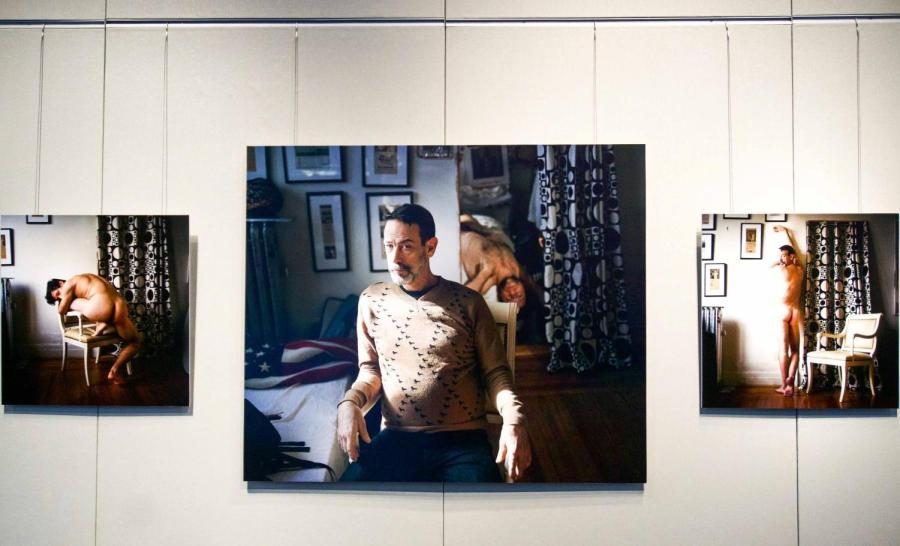 """Matthew Morocco's new exhibition """"Complicit"""" is now on display in the gallery in Gallatin and features his unapologetic photographs of men."""