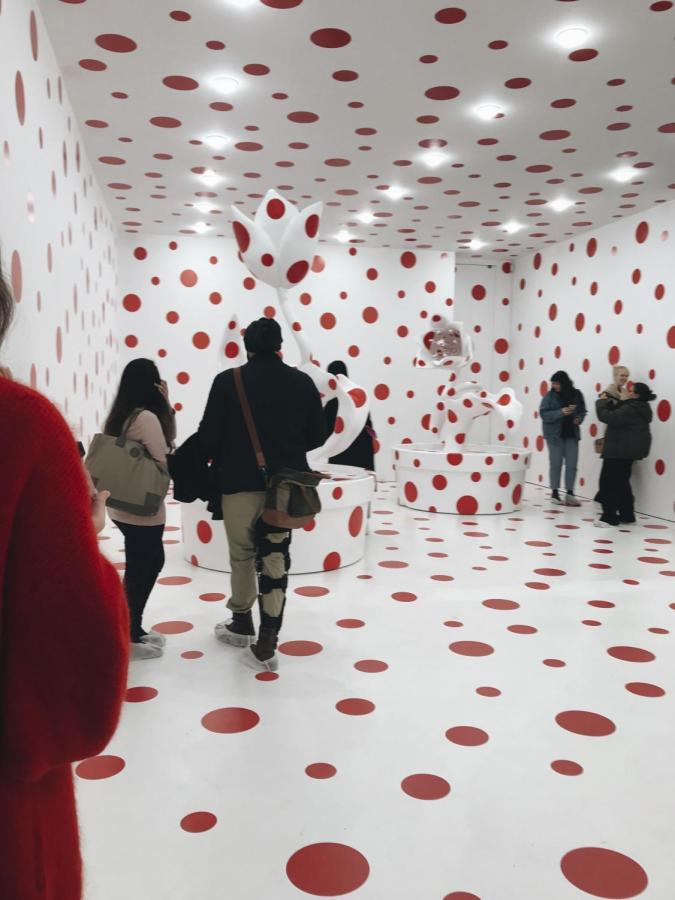 """The David Zwirner Gallery in Chelsea is currently displaying Yayoi Kusama's """"Festival of Life,"""" and has become a popular Instagram selfie location."""