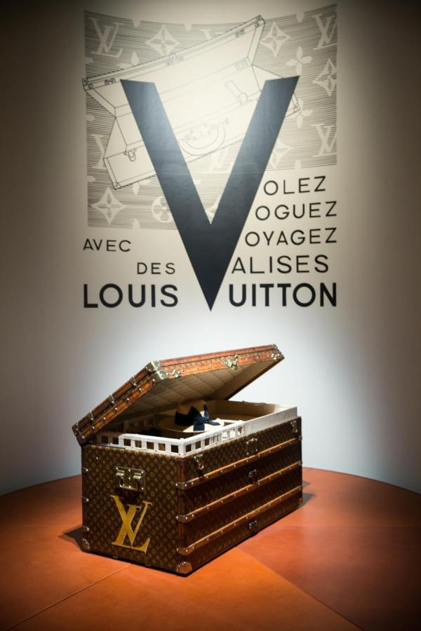 Louis Vuitton has a new free exhibit in downtown New York City, Volez, Voguez, Voyagez. The collection guides visitors through the history of Louis Vuitton, from its beginnings as a luggage brand to today's red carpet staple.