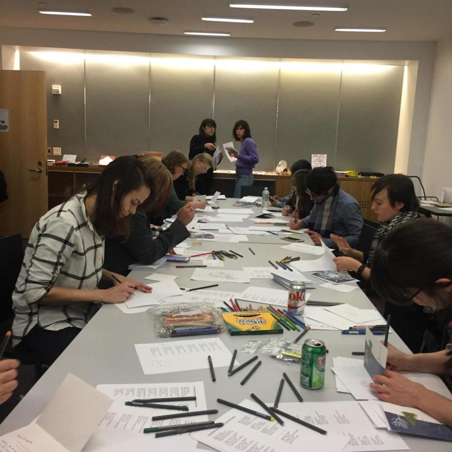 Members of the NYU community spent their Friday night writing holiday letters to incarcerated individuals.