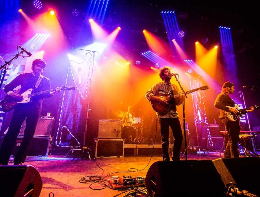 """Allah Las performing at Brooklyn Steel on Jan 20. They stayed true to their California psych folk roots, performing music from their album Calico Review"""" and recent EP """"Covers #1."""