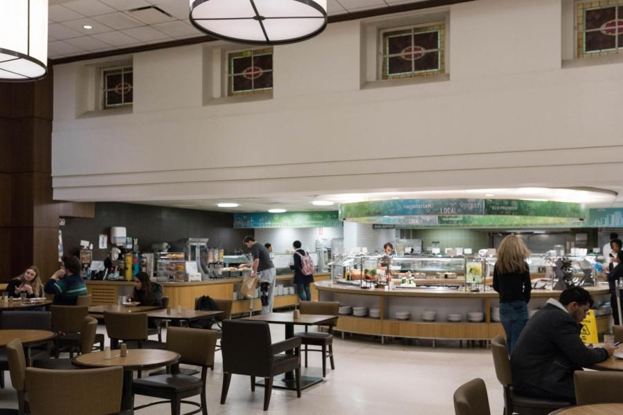 NYU's Lipton Dining Hall, which recently failed a health inspection by the New York City Department of Health.