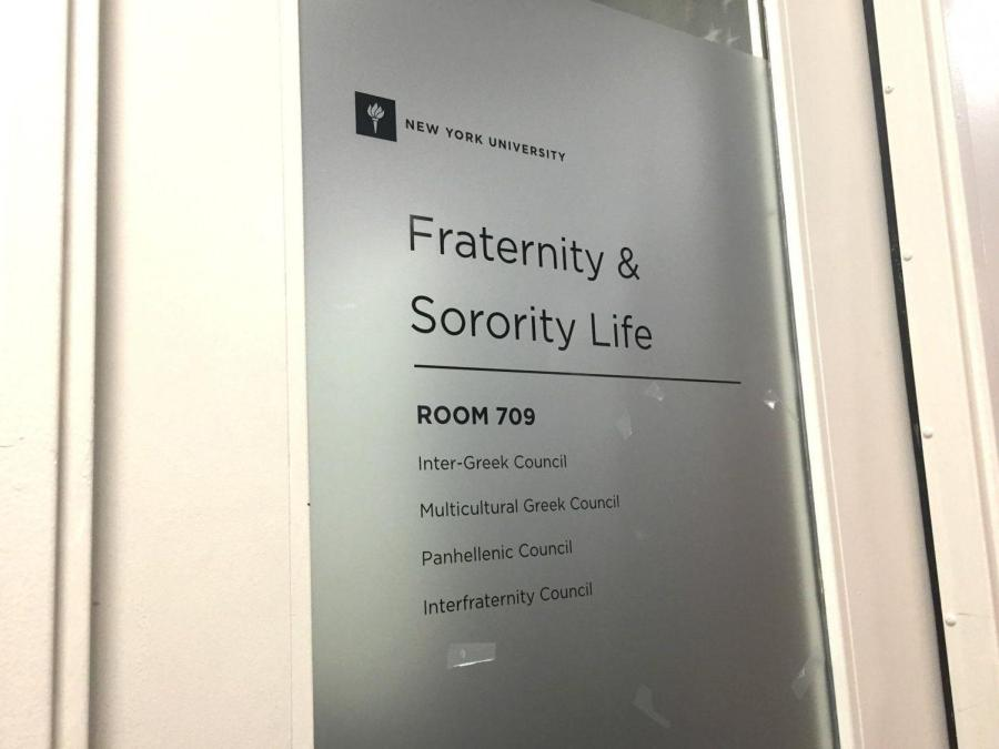 NYU's Office of Fraternity and Sorority Life