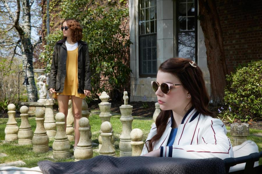 Scene+from+the+film+%E2%80%9CThoroughbreds%E2%80%9D+featuring+Lily+%28Ana+Taylor-Joy%29+and+Amanda+%28Olivia+Cooke%29.