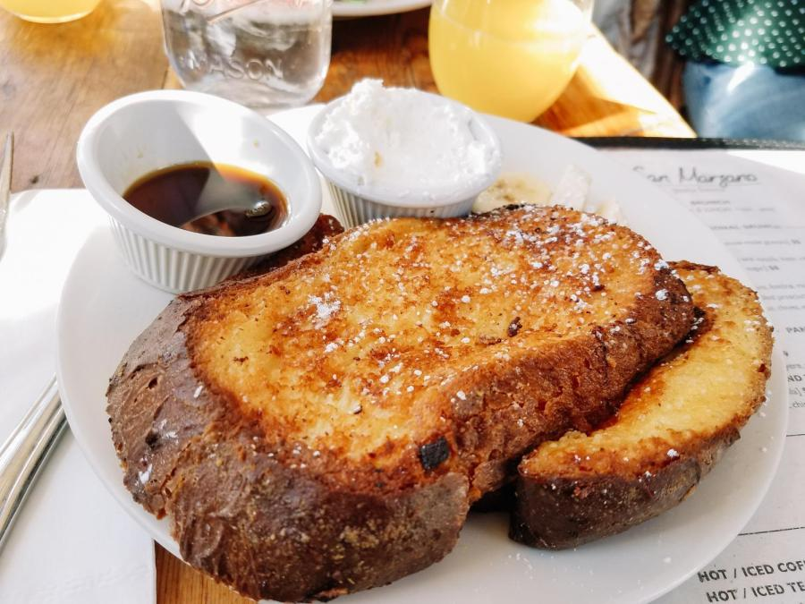 San Marzano's signature French toast.
