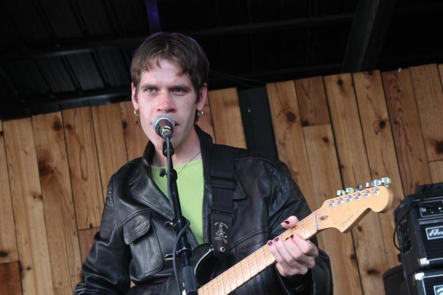 Porches frontman Aaron Maine performing at South by Southwest earlier this month.