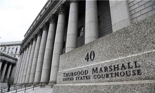 The Thurgood Marshall United States Courthouse in Lower Manhattan.