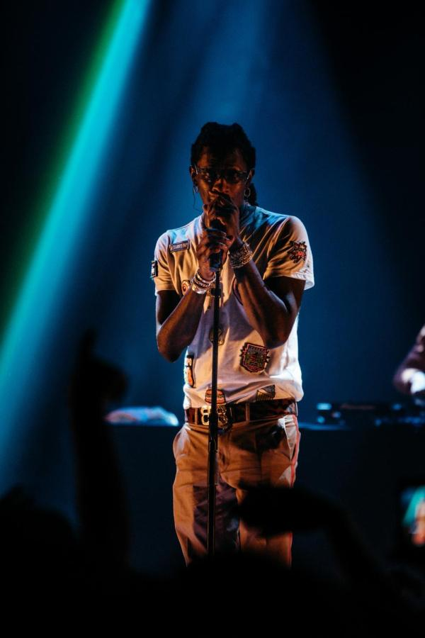 Young Thug performing at Terminal 5 on April 5. The concert was an NYU exclusive event hosted by NYU Student Government Assembly and Program Board.