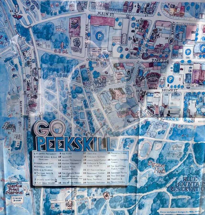 A map of Peekskill.