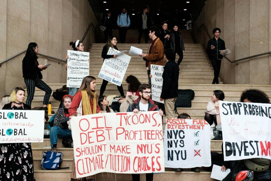 SLAM and NYU Divest protestors officially ended their occupation after administrators threatened disciplinary action.