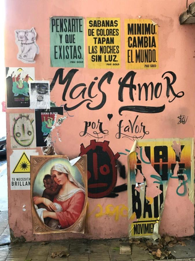 Street art in Palermo Hollywood.