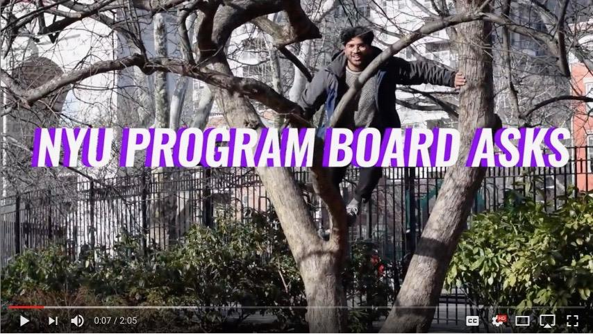 The+Program+Board%E2%80%99s+new+YouTube+series+%E2%80%9CNYU+PB+ASKS%E2%80%9D+hits+the+streets+to+find+out+what+NYU+students+are+binging+and+listening+to.