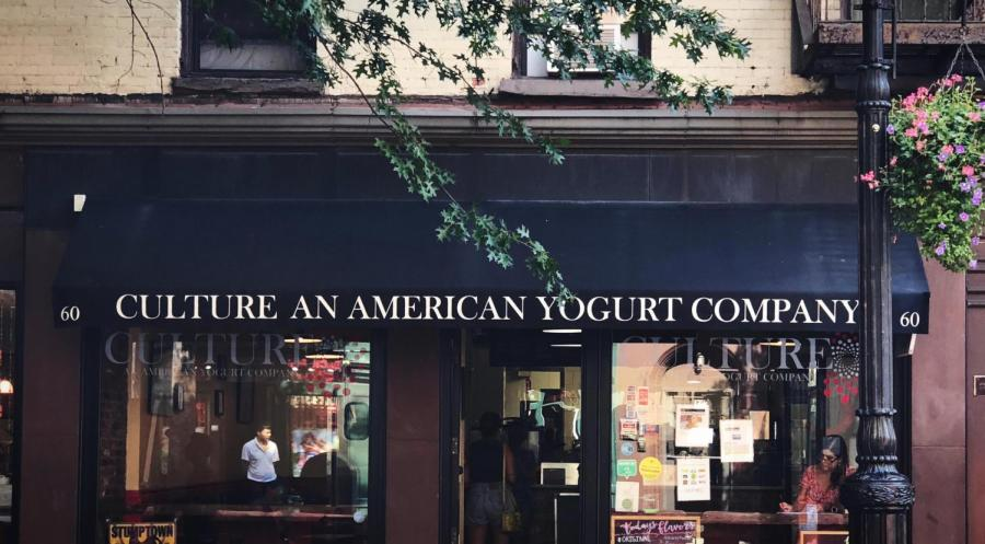 Culture is a small, independently owned frozen yogurt shop housed in a quaint and easily overlooked space in Greenwich Village.
