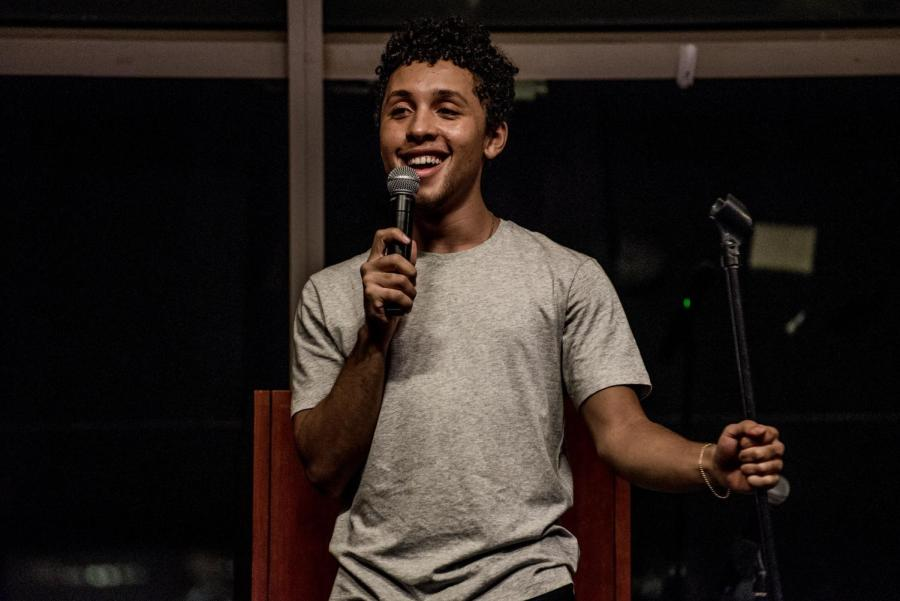 Jaboukie Young-White performs at Kimmel on Thursday night.