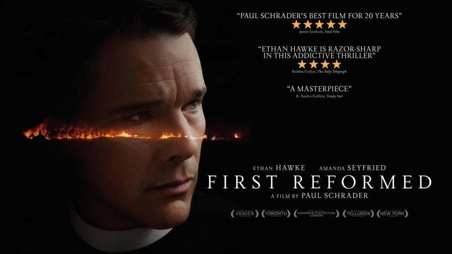 """The movie poster from """"First Reformed."""""""