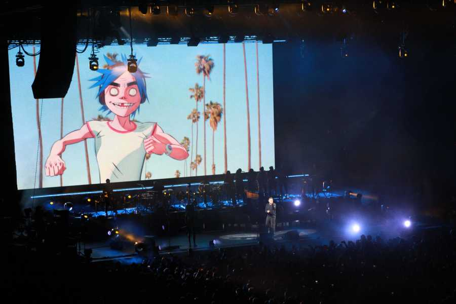 Gorillaz performs Barclays Center in Brooklyn on Oct. 13 as a part of their the Now Now tour. Frontman Damon Albarn has announced that this may be the last concert people will see of Gorillaz in a while. (Photo by Lea  Veloso)
