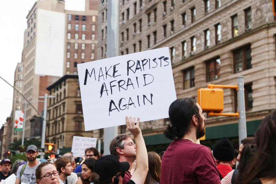 New Yorkers hit the streets this week to protest in support of Dr. Ford.