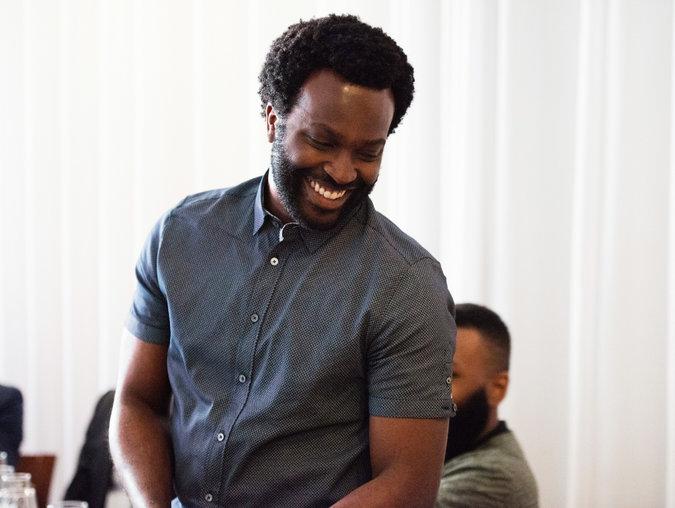 Faraday Okoro winning $1 million grant at Tribeca Film Festival. (via facebook.com)