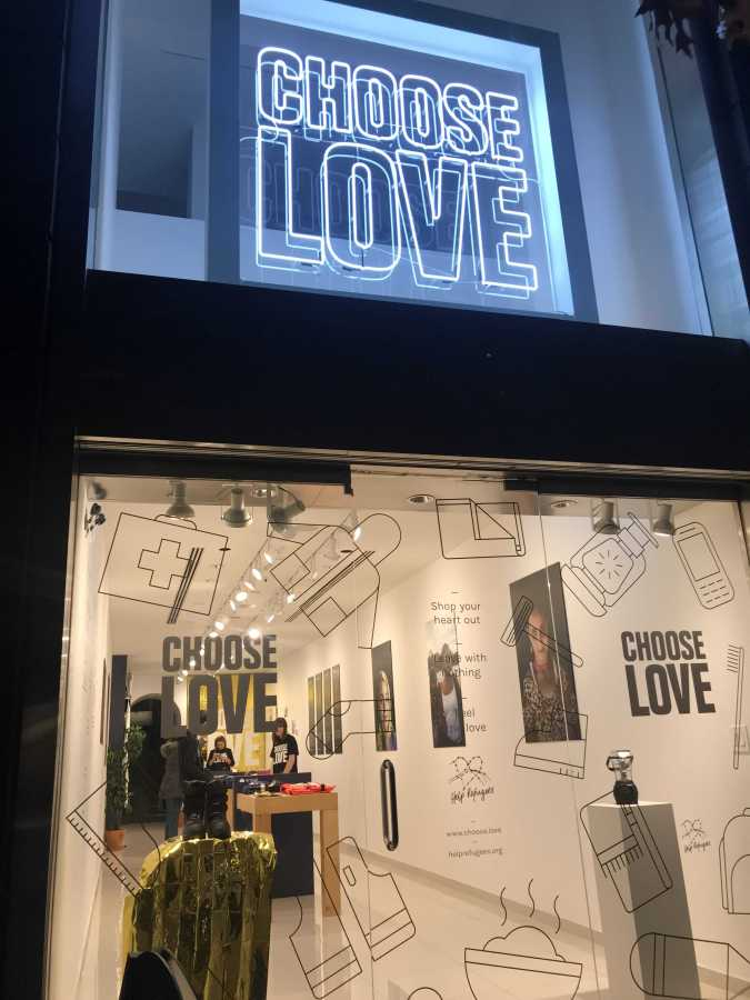 Choose Love is a store where people can buy gifts for refugees across the world. (Photo by Hanna McNeila)