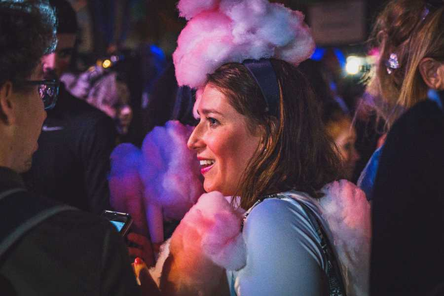 Stacey Palker has been making her own costumes for the past nine years. This year, she was cotton candy. (Photo by Tony Wu)