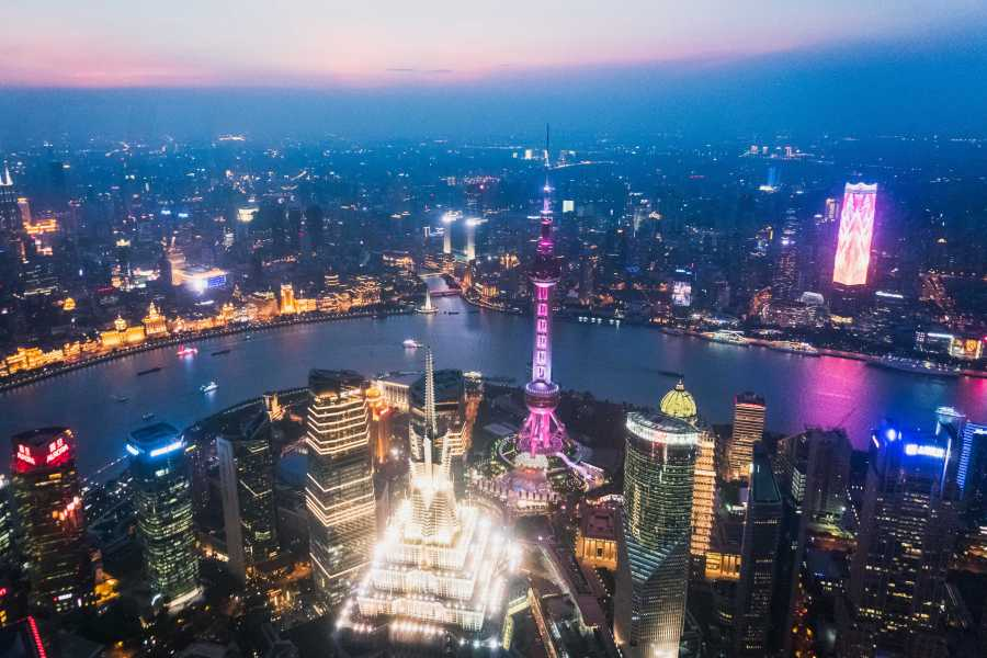 An aerial view of Shanghai. (Photo by Tony Wu)