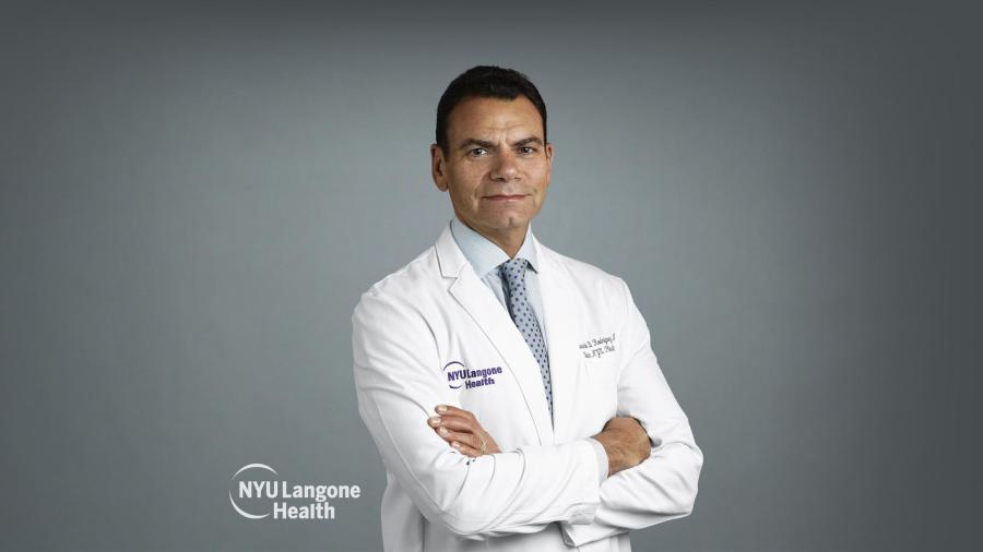 Dr. Rodriguez, chair of the Department of Plastic Surgery at NYU, recently preformed his second landmark face transplant while at the university.(Courtesy of NYU Langone Health)