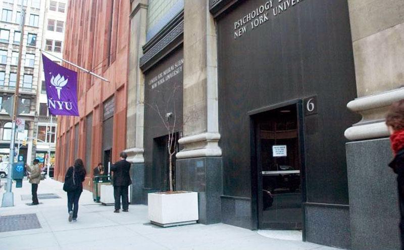 Facade of the NYU Department of Psychology (via NYU)